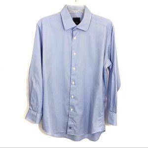 David Donahue light blue button down shirt K13